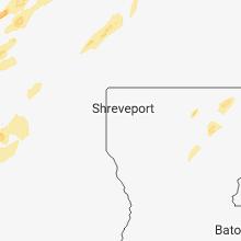 Regional Hail Map for Shreveport, LA - Friday, April 13, 2018