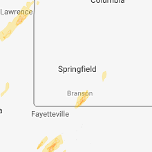 Regional Hail Map for Springfield, MO - Friday, April 13, 2018