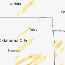 Regional Hail Map for Tulsa, OK - Friday, April 13, 2018