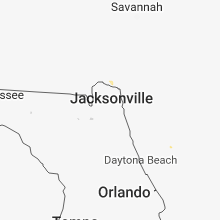 Regional Hail Map for Jacksonville, FL - Sunday, April 15, 2018