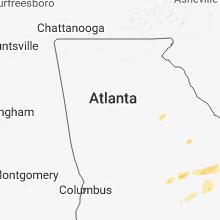 Regional Hail Map for Atlanta, GA - Monday, April 23, 2018
