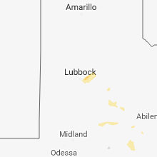 Regional Hail Map for Lubbock, TX - Tuesday, April 24, 2018