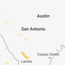 Regional Hail Map for San Antonio, TX - Wednesday, April 25, 2018