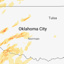 Regional Hail Map for Oklahoma City, OK - Wednesday, May 2, 2018