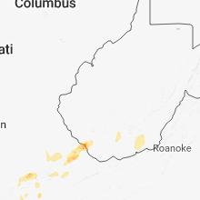 Regional Hail Map for Charleston, WV - Saturday, May 5, 2018