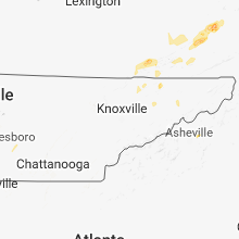 Regional Hail Map for Knoxville, TN - Saturday, May 5, 2018
