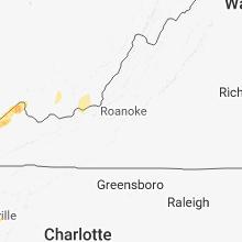 Regional Hail Map for Roanoke, VA - Saturday, May 5, 2018