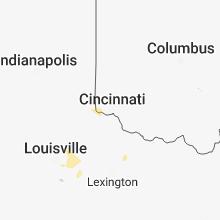 Regional Hail Map for Cincinnati, OH - Sunday, May 6, 2018