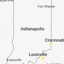 Regional Hail Map for Indianapolis, IN - Sunday, May 6, 2018