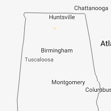 Regional Hail Map for Birmingham, AL - Monday, May 7, 2018