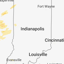 Regional Hail Map for Indianapolis, IN - Wednesday, May 9, 2018