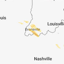 Regional Hail Map for Evansville, IN - Thursday, May 10, 2018