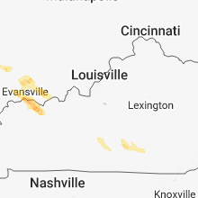 Regional Hail Map for Louisville, KY - Thursday, May 10, 2018