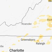Regional Hail Map for Roanoke, VA - Thursday, May 10, 2018