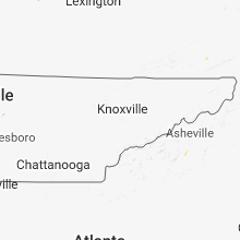 Regional Hail Map for Knoxville, TN - Friday, May 11, 2018