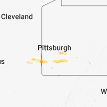 Regional Hail Map for Pittsburgh, PA - Saturday, May 12, 2018