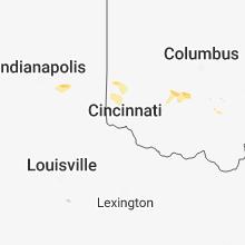 Regional Hail Map for Cincinnati, OH - Sunday, May 13, 2018