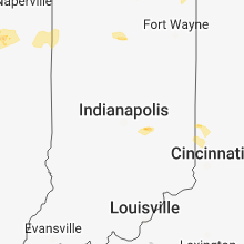 Regional Hail Map for Indianapolis, IN - Sunday, May 13, 2018