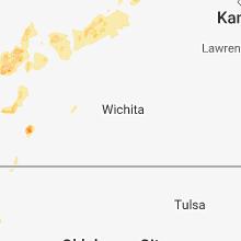 Regional Hail Map for Wichita, KS - Sunday, May 13, 2018
