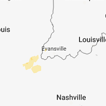 Regional Hail Map for Evansville, IN - Monday, May 14, 2018