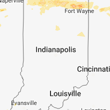Regional Hail Map for Indianapolis, IN - Monday, May 14, 2018