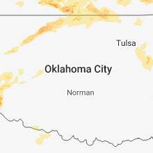 Regional Hail Map for Oklahoma City, OK - Monday, May 14, 2018