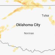Regional Hail Map for Oklahoma City, OK - Monday, May 14, 2018