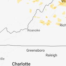 Regional Hail Map for Roanoke, VA - Monday, May 14, 2018