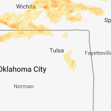 Regional Hail Map for Tulsa, OK - Monday, May 14, 2018