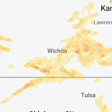 Regional Hail Map for Wichita, KS - Monday, May 14, 2018