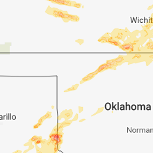 Regional Hail Map for Woodward, OK - Monday, May 14, 2018