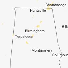 Regional Hail Map for Birmingham, AL - Tuesday, May 15, 2018