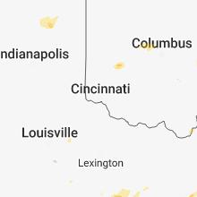 Regional Hail Map for Cincinnati, OH - Tuesday, May 15, 2018