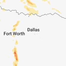 Regional Hail Map for Dallas, TX - Tuesday, May 15, 2018