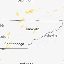 Regional Hail Map for Knoxville, TN - Tuesday, May 15, 2018