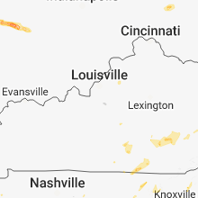 Regional Hail Map for Louisville, KY - Tuesday, May 15, 2018