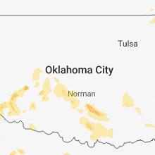Regional Hail Map for Oklahoma City, OK - Tuesday, May 15, 2018