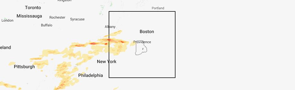 Interactive Hail Maps - Hail Map for Bristol, CT