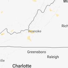 Regional Hail Map for Roanoke, VA - Tuesday, May 15, 2018