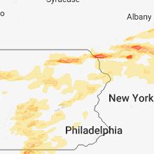Regional Hail Map for Scranton, PA - Tuesday, May 15, 2018