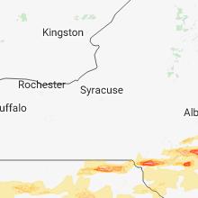 Regional Hail Map for Syracuse, NY - Tuesday, May 15, 2018