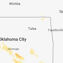 Regional Hail Map for Tulsa, OK - Tuesday, May 15, 2018