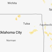 Regional Hail Map for Tulsa, OK - Wednesday, May 16, 2018