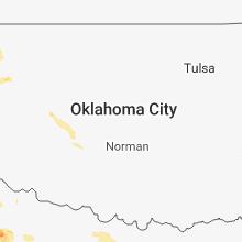 Regional Hail Map for Oklahoma City, OK - Thursday, May 17, 2018