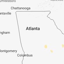 Regional Hail Map for Atlanta, GA - Friday, May 18, 2018