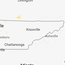 Regional Hail Map for Knoxville, TN - Friday, May 18, 2018