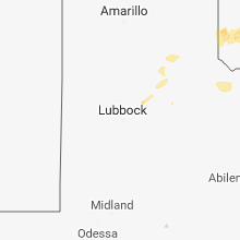 Regional Hail Map for Lubbock, TX - Friday, May 18, 2018