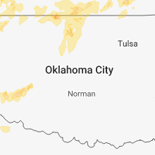 Regional Hail Map for Oklahoma City, OK - Friday, May 18, 2018