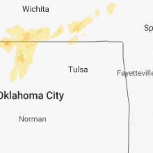 Regional Hail Map for Tulsa, OK - Friday, May 18, 2018