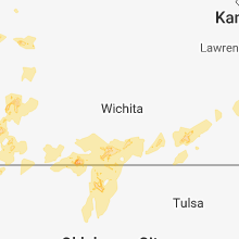 Regional Hail Map for Wichita, KS - Friday, May 18, 2018